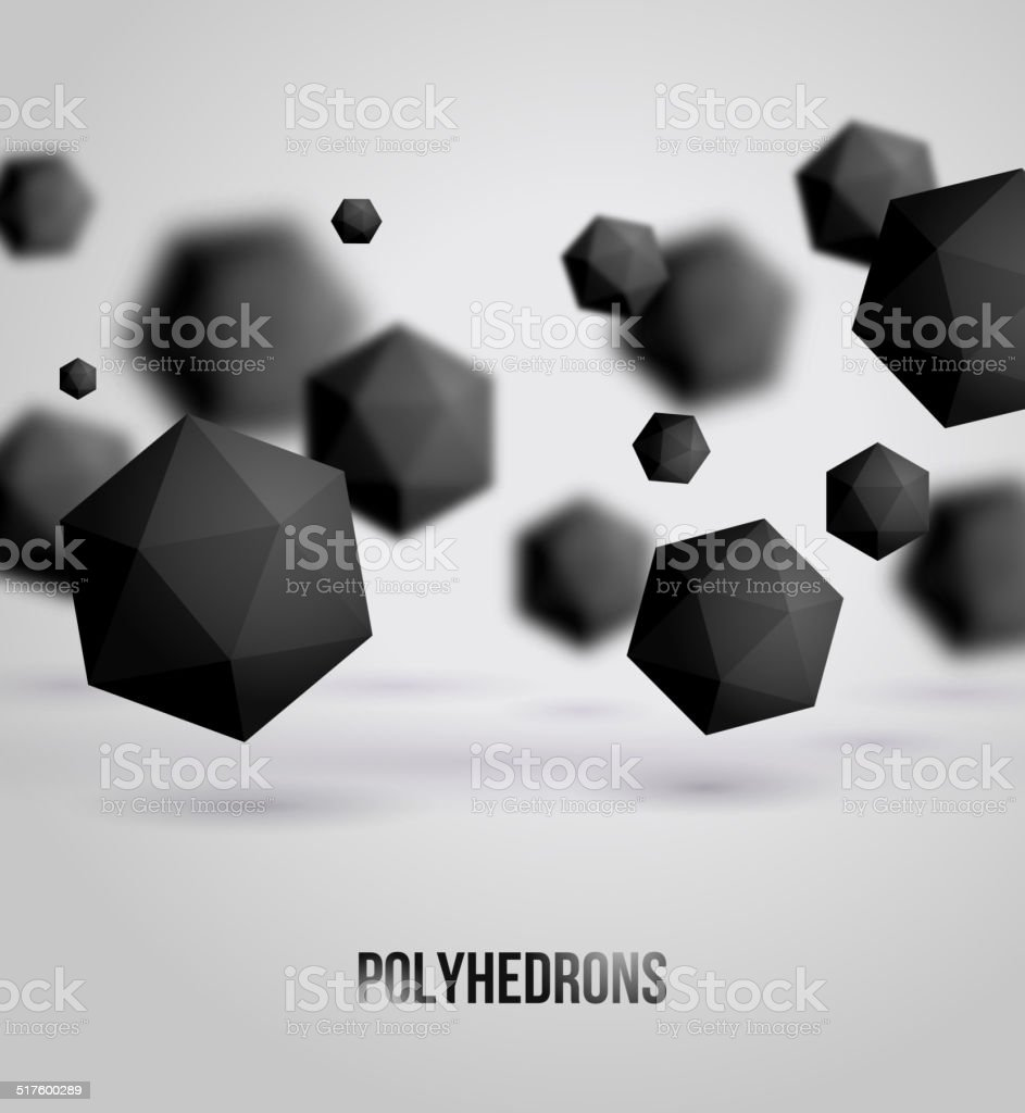 Abstract black geometric shapes on bright background, for graphi vector art illustration
