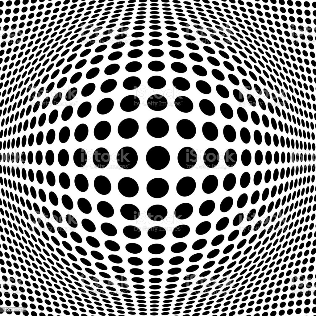 Abstract Black Halftone Background vector art illustration