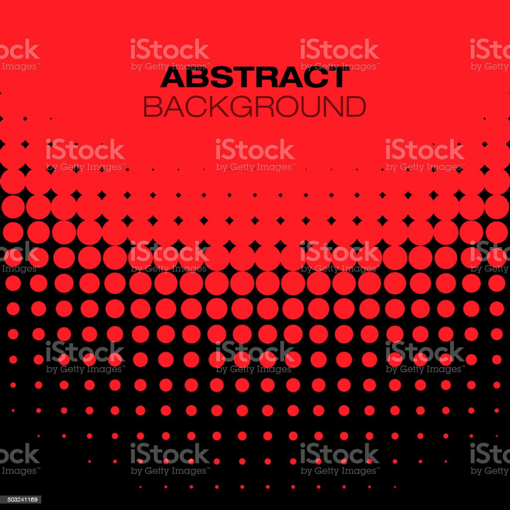 Abstract Black Red Halftone Background vector art illustration