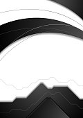 Abstract black white corporate vector flyer background