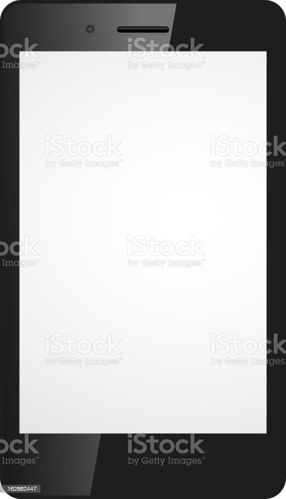 Abstract blank smartphone royalty-free stock vector art