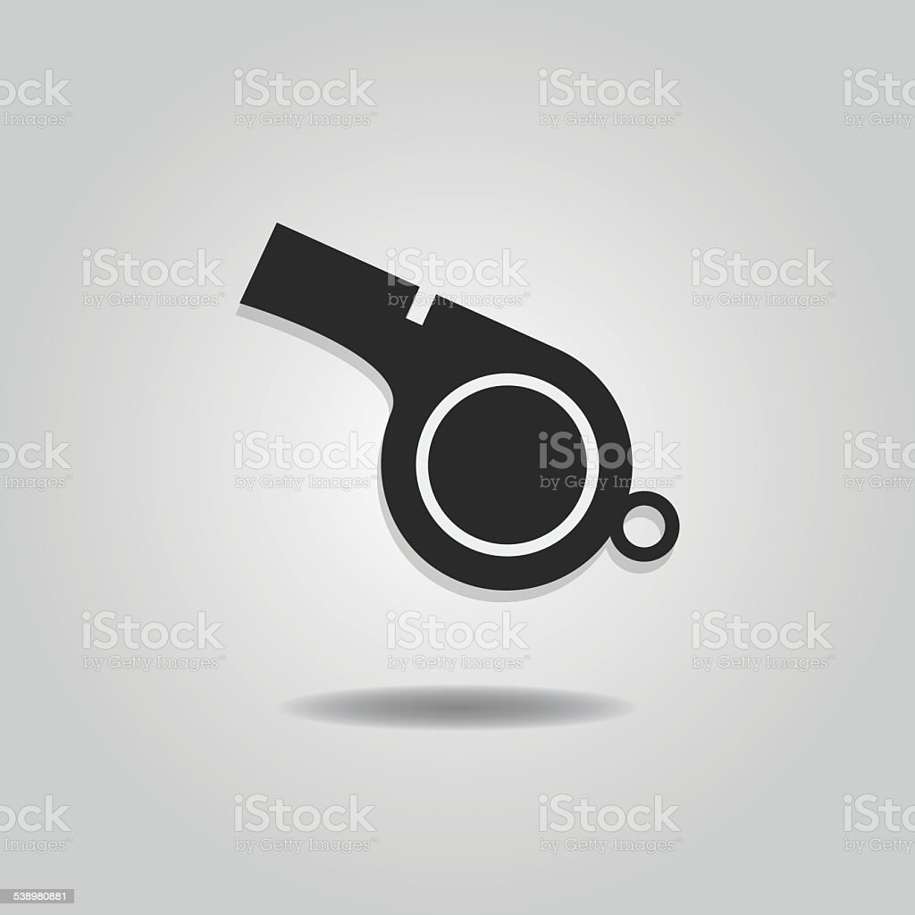Abstract blowing whistle icon vector art illustration