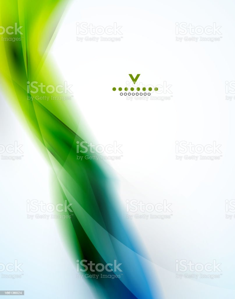 Abstract blue and green wave background royalty-free stock vector art