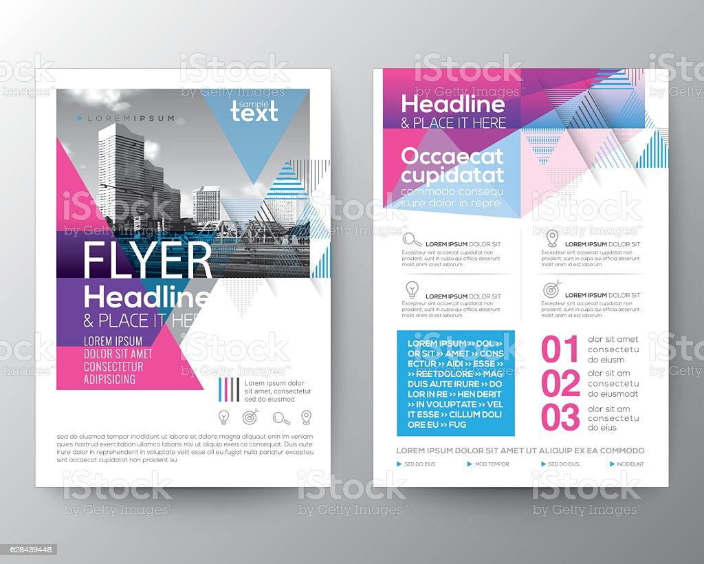Abstract Blue and Pink geometric background for Poster Brochure Flyer vector art illustration