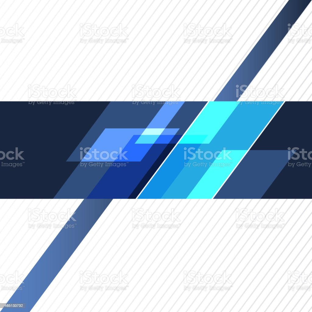Abstract blue and what geometric background vector art illustration
