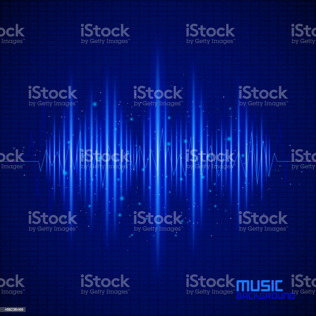 Abstract blue background of music equalizer royalty-free stock vector art