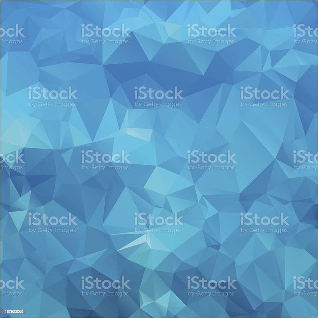 Abstract blue background polygon. royalty-free stock vector art
