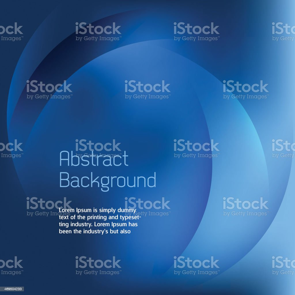 Abstract Blue Background Vector vector art illustration