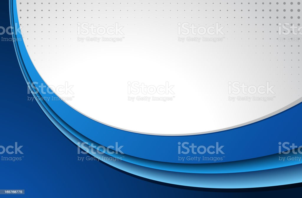 Abstract blue background with round shape royalty-free stock vector art