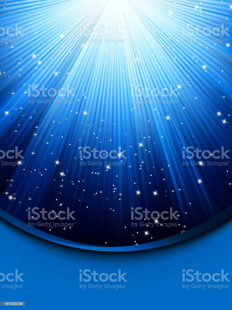 Abstract blue background with stars. EPS 8 royalty-free stock vector art
