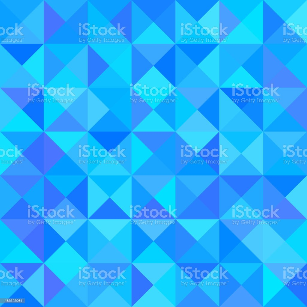 Abstract Blue Background with Triangle Shape. Vector royalty-free stock vector art