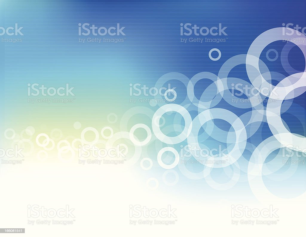 Abstract blue background with white circles royalty-free stock vector art