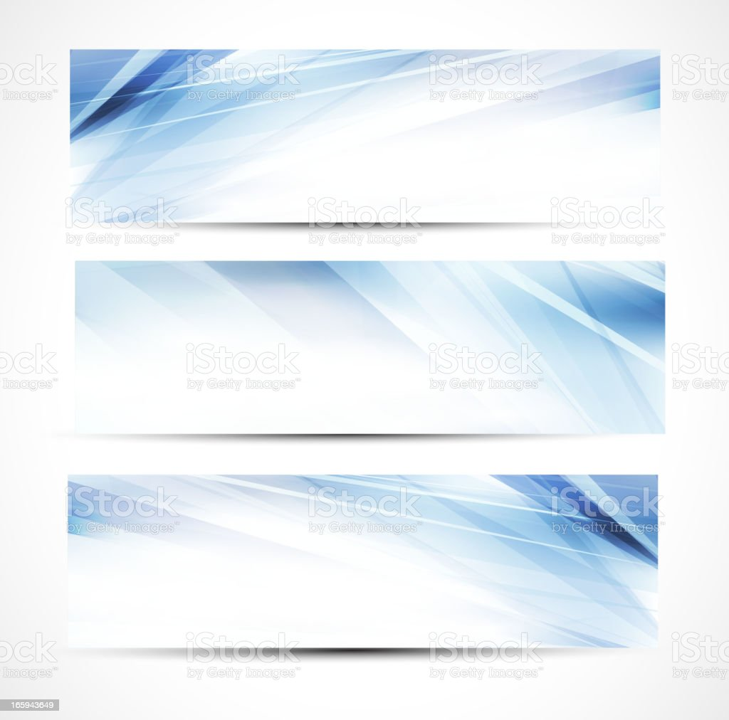 Abstract blue business banners royalty-free stock vector art