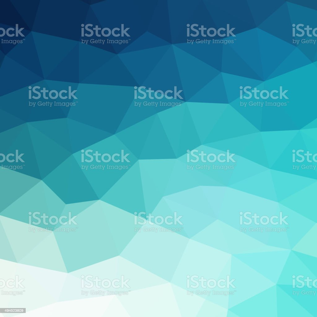 Abstract blue colorful geometric background vector art illustration