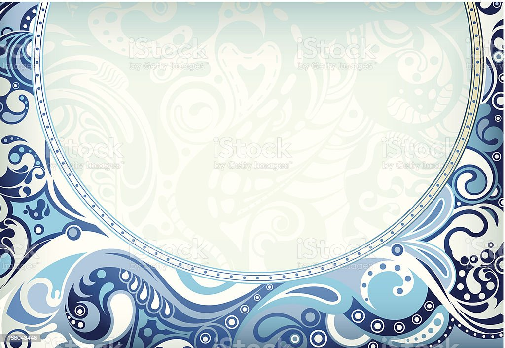 Abstract Blue Curve royalty-free stock vector art