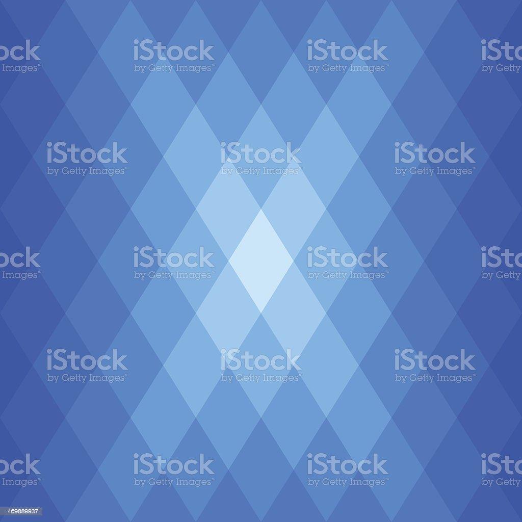 Abstract Blue Diamond Shaped Flare vector art illustration