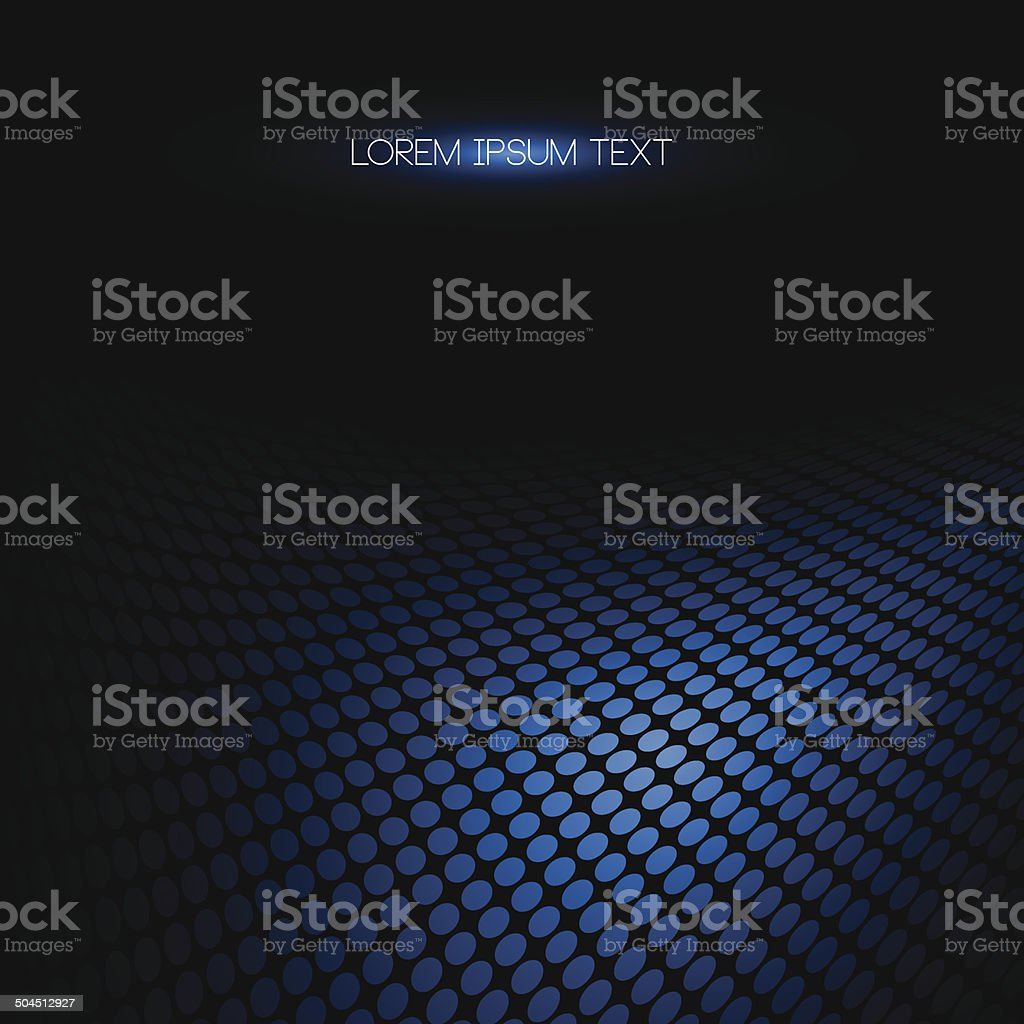 Abstract blue dotted background. vector art illustration