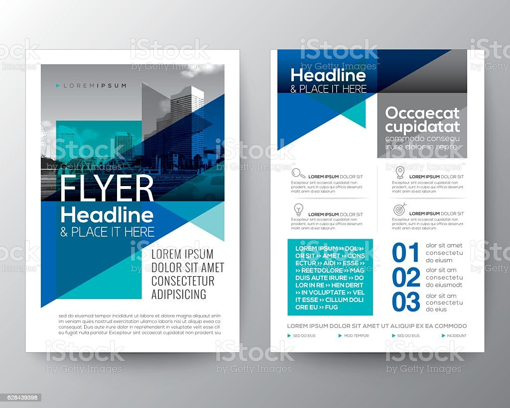 Abstract Blue geometric background for Poster Brochure Flyer design Layout vector art illustration