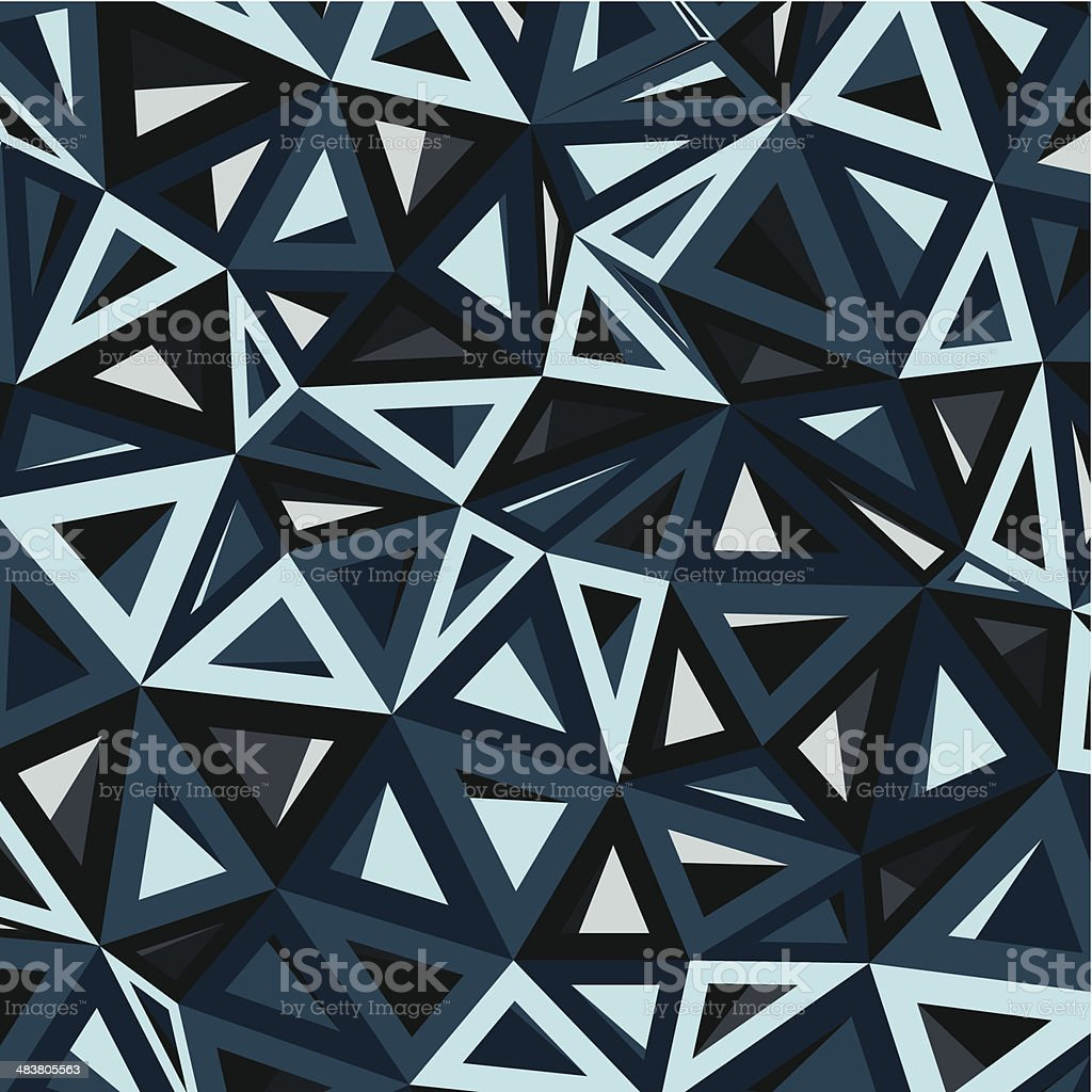 abstract blue geometry pattern background vector art illustration