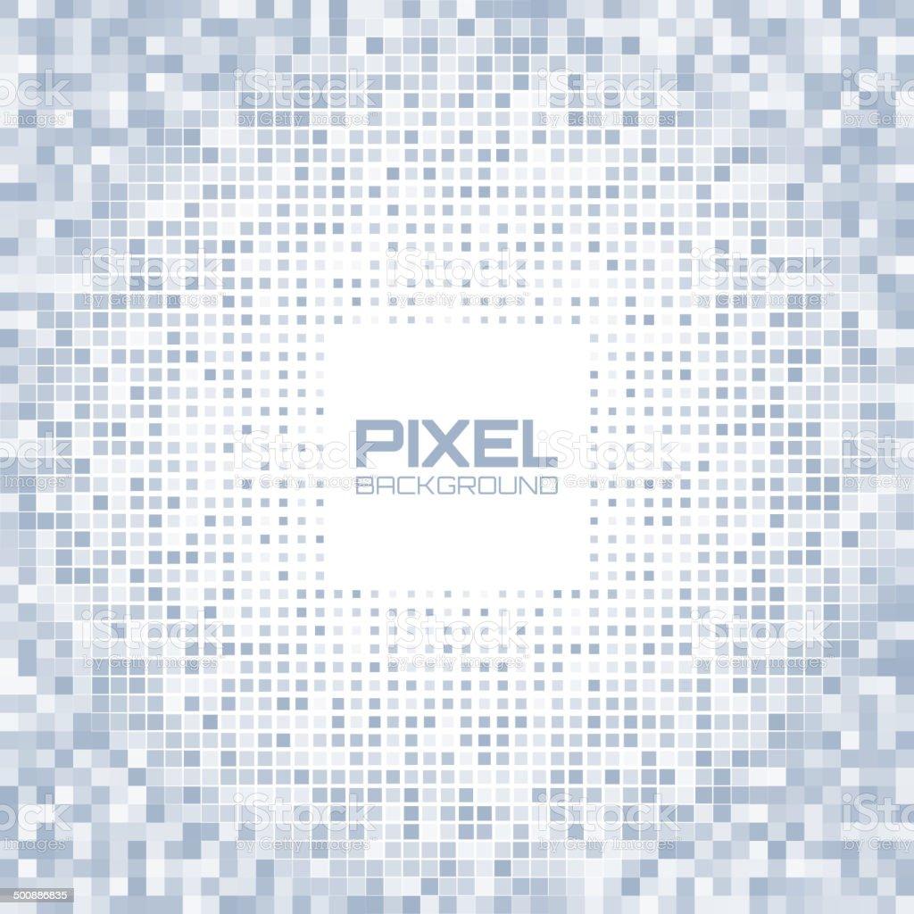 Abstract blue gray light pixel background vector art illustration