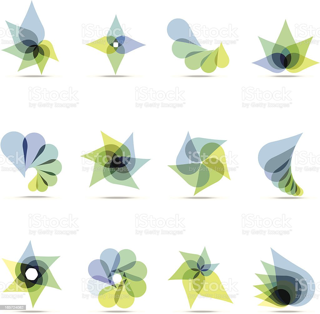 Abstract Blue & Green Design Elements vector art illustration