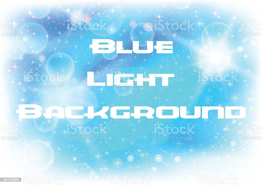 Abstract Blue Light Background vector art illustration