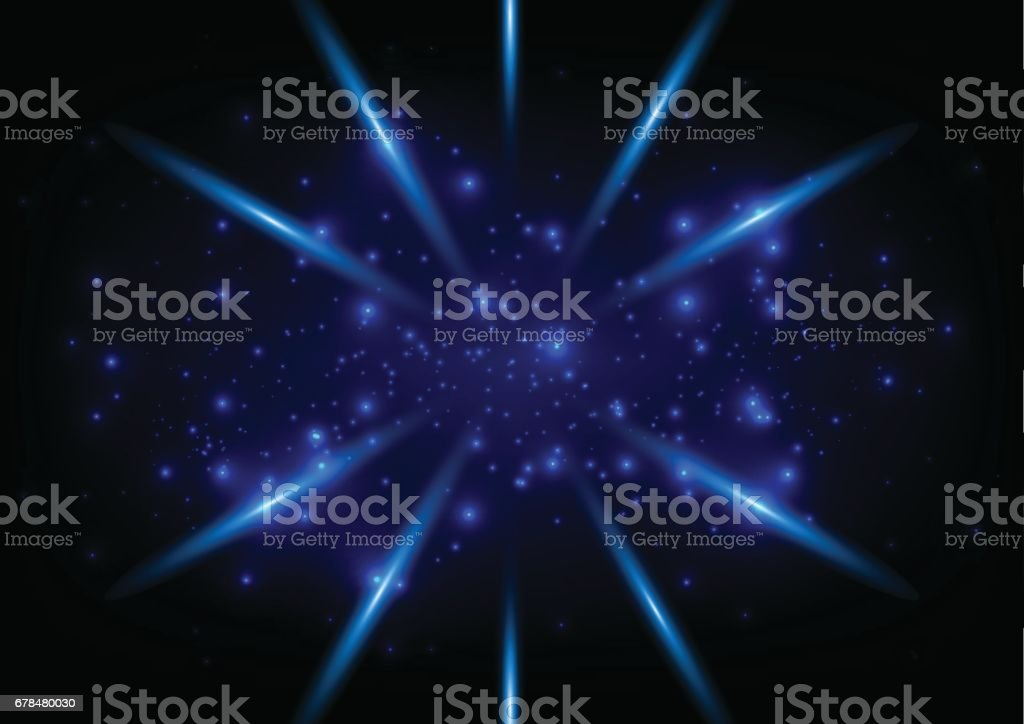 abstract blue ligth space concept  background vector art illustration