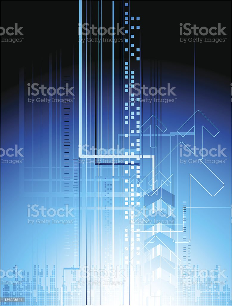 Abstract blue lines royalty-free stock vector art