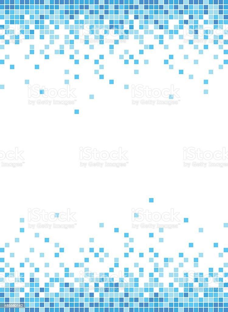 Abstract Blue Mosaic Frame Background - Illustration vector art illustration