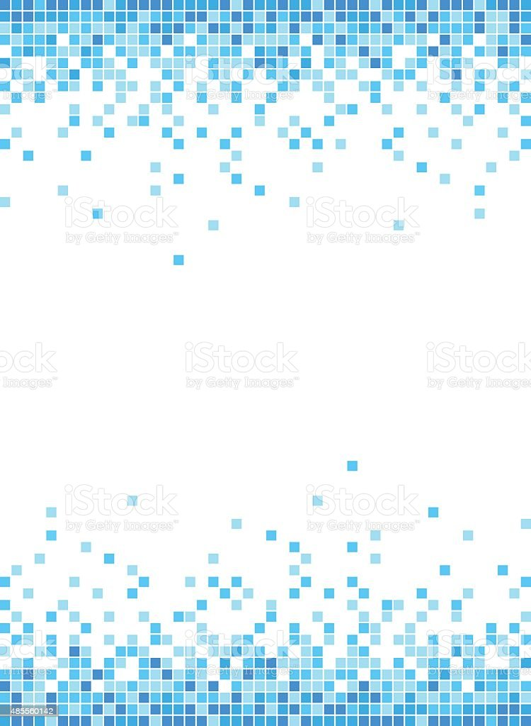 Abstract Blue Mosaic Frame Background - Illustration vector art illustration