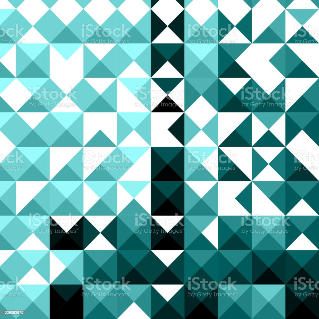 abstract blue mosaic pattern background vector art illustration