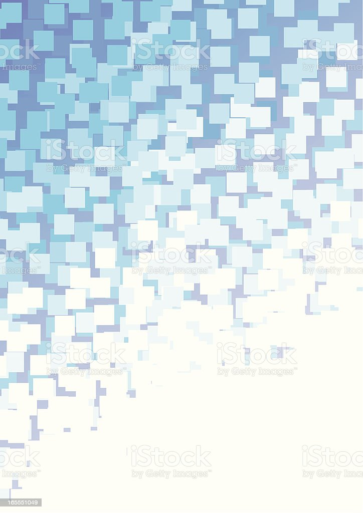 Abstract blue pixel background royalty-free stock vector art