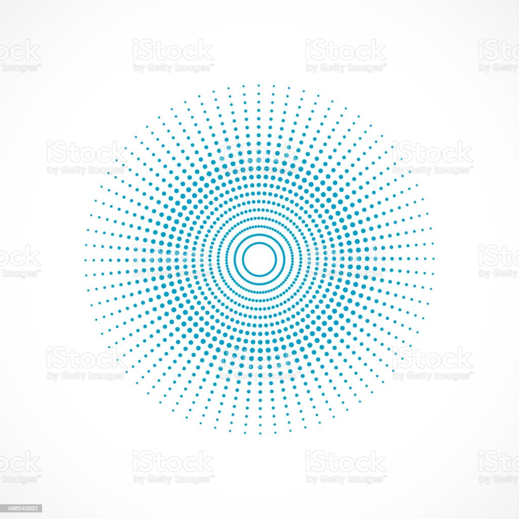 abstract blue polka dot circle  pattern vector art illustration