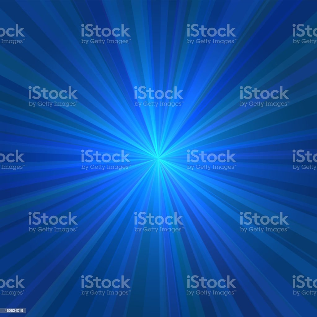 Abstract Blue Rays Background. Vector royalty-free stock vector art