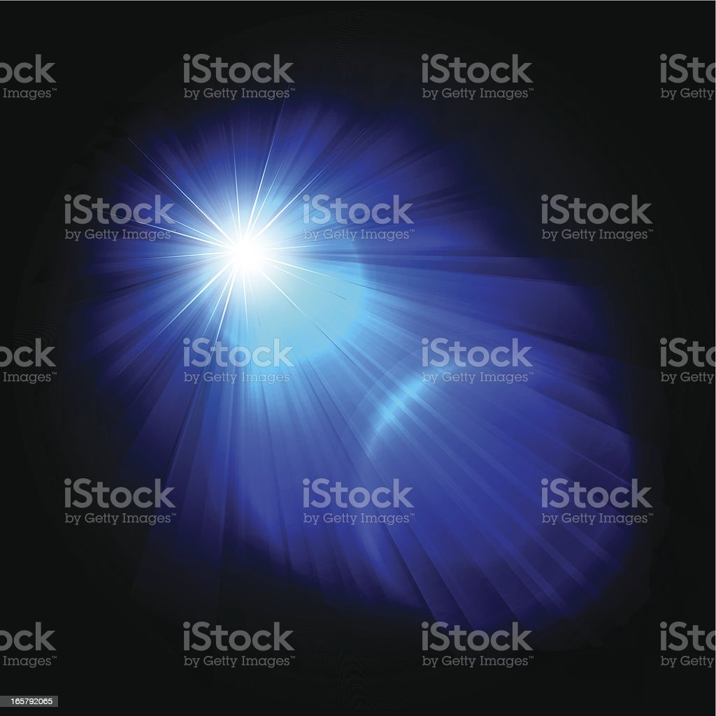 Abstract Blue Rays royalty-free stock vector art