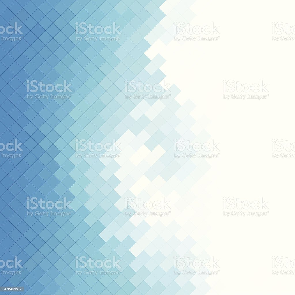 Abstract blue squares background vector art illustration