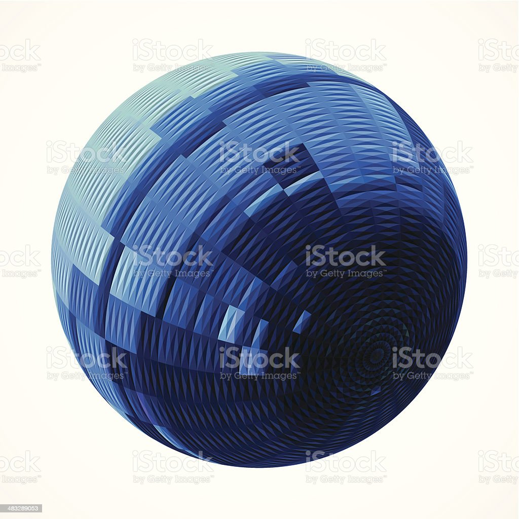 abstract blue stripe style round pattern background vector art illustration