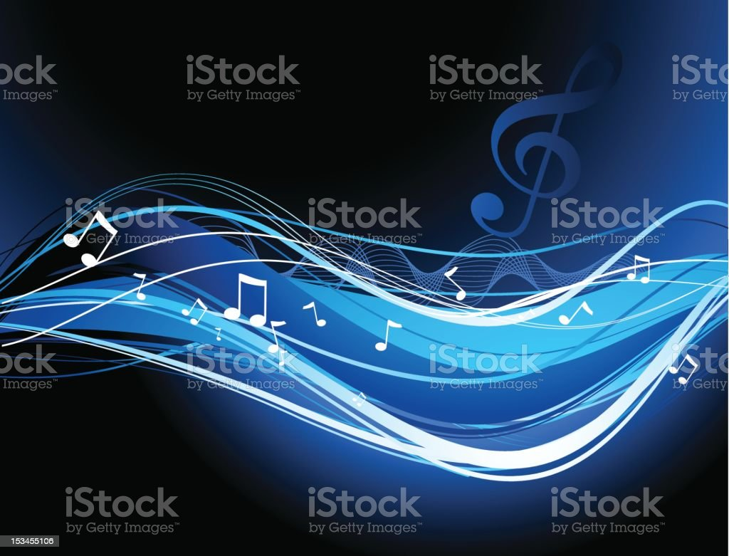 Abstract blue stripes royalty-free stock vector art