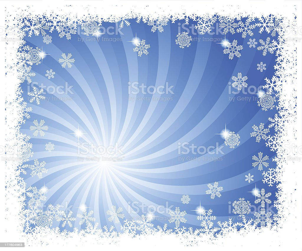 abstract blue swirl snowflake background royalty-free stock vector art