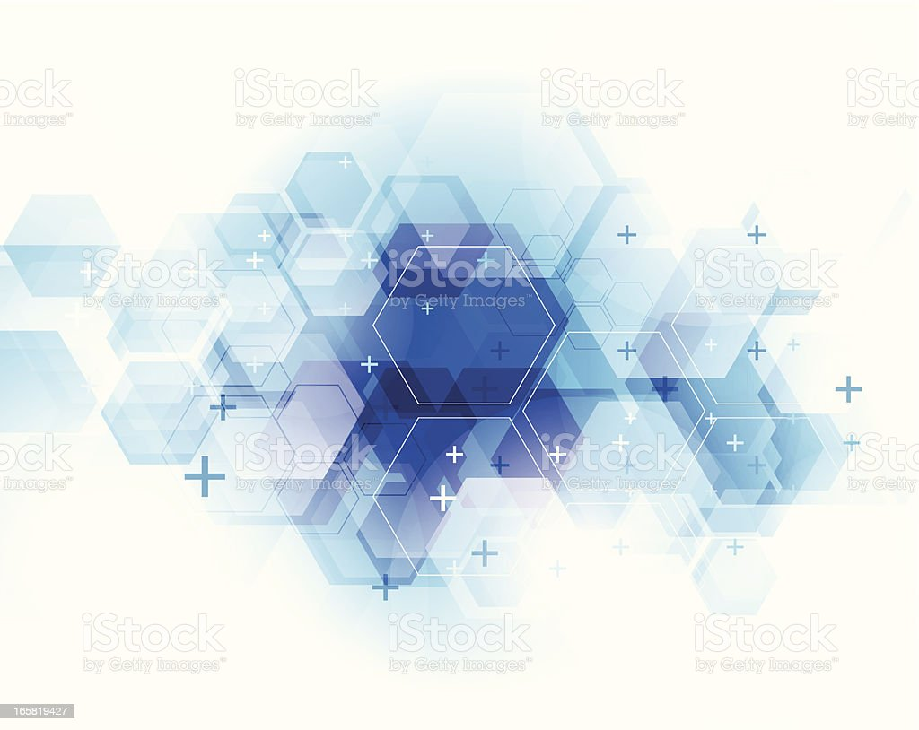 Abstract blue technical background vector art illustration
