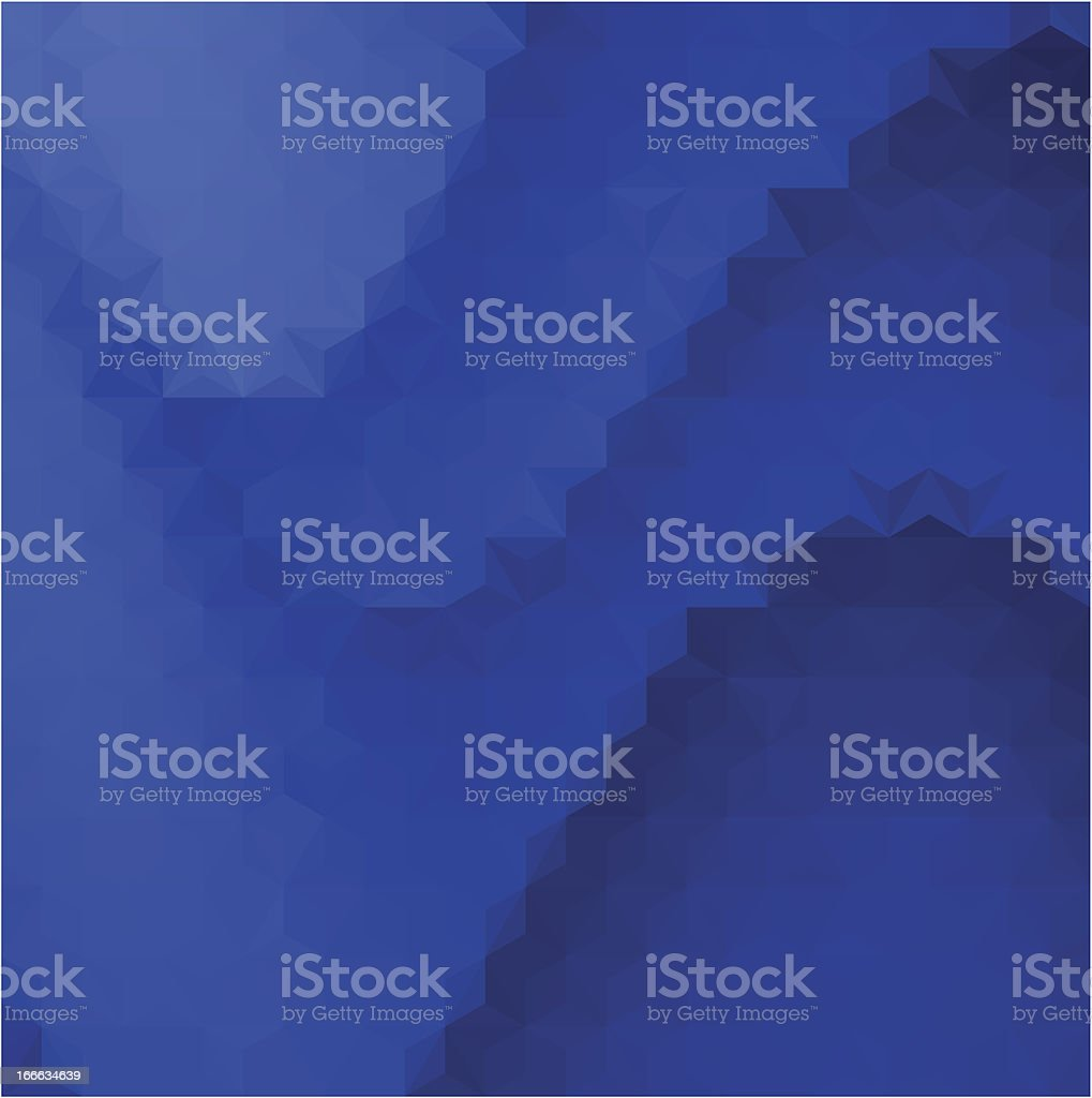 Abstract Blue Triangle Background royalty-free stock vector art