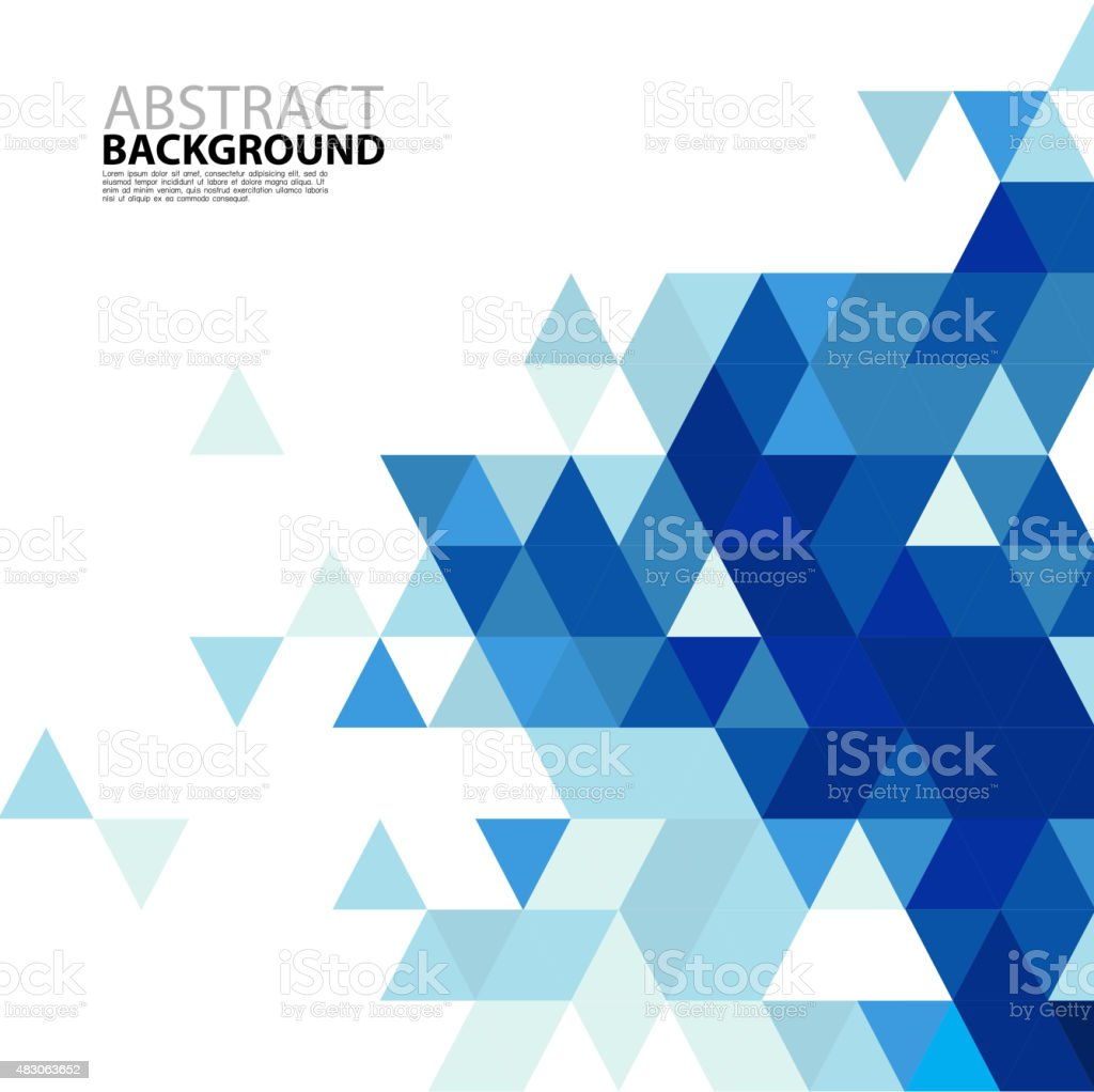 Abstract blue triangle modern template for business or tech vector art illustration