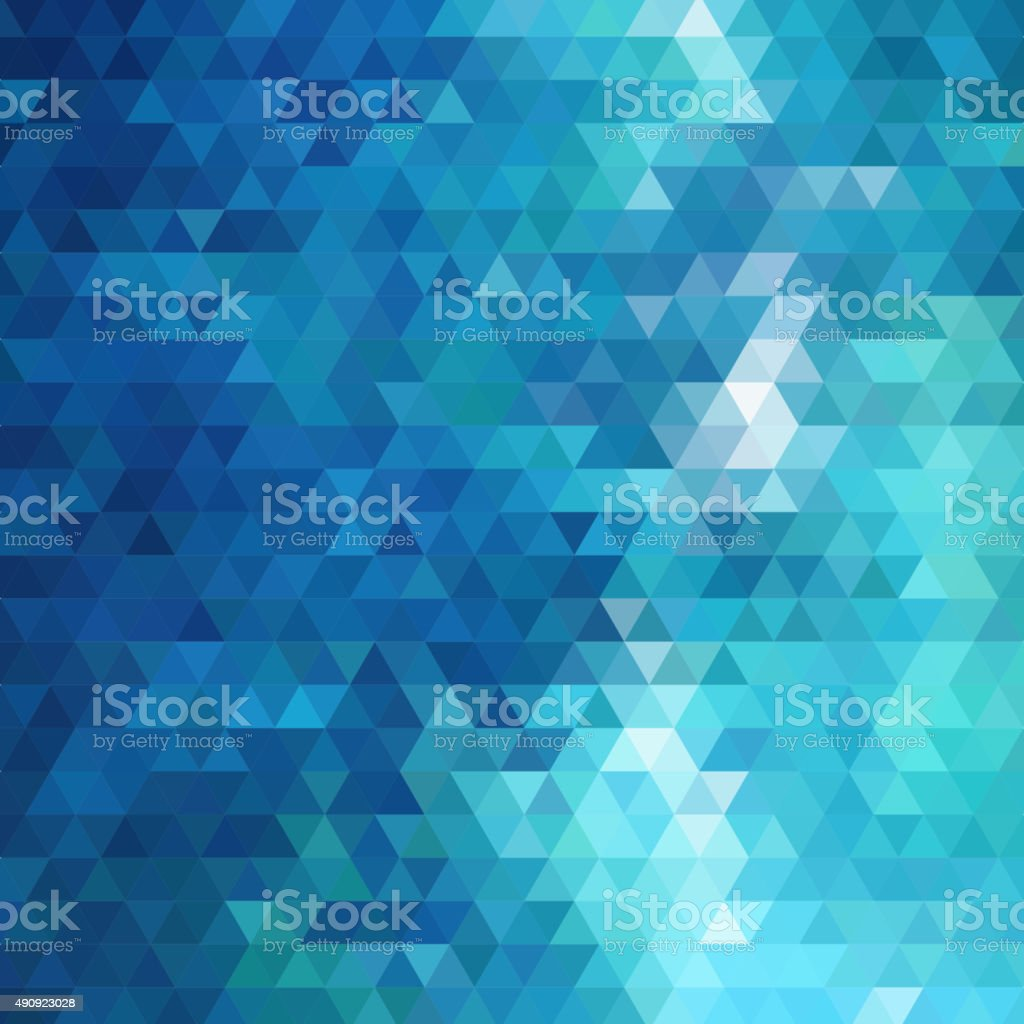 abstract blue triangle pattern background vector art illustration