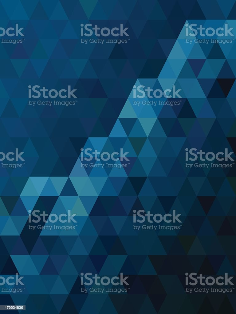 Abstract blue triangle texture vector art illustration