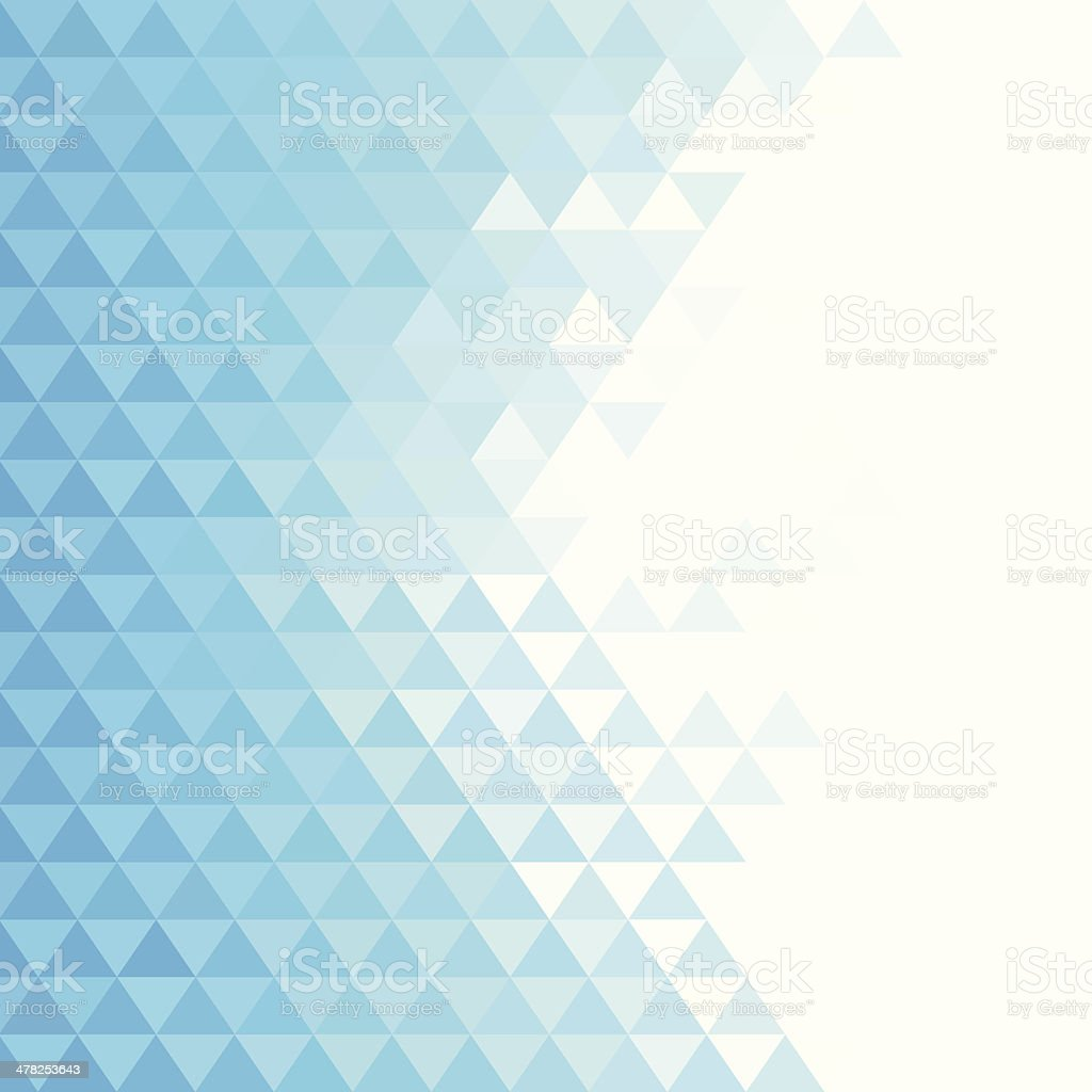 Abstract blue triangles background vector art illustration