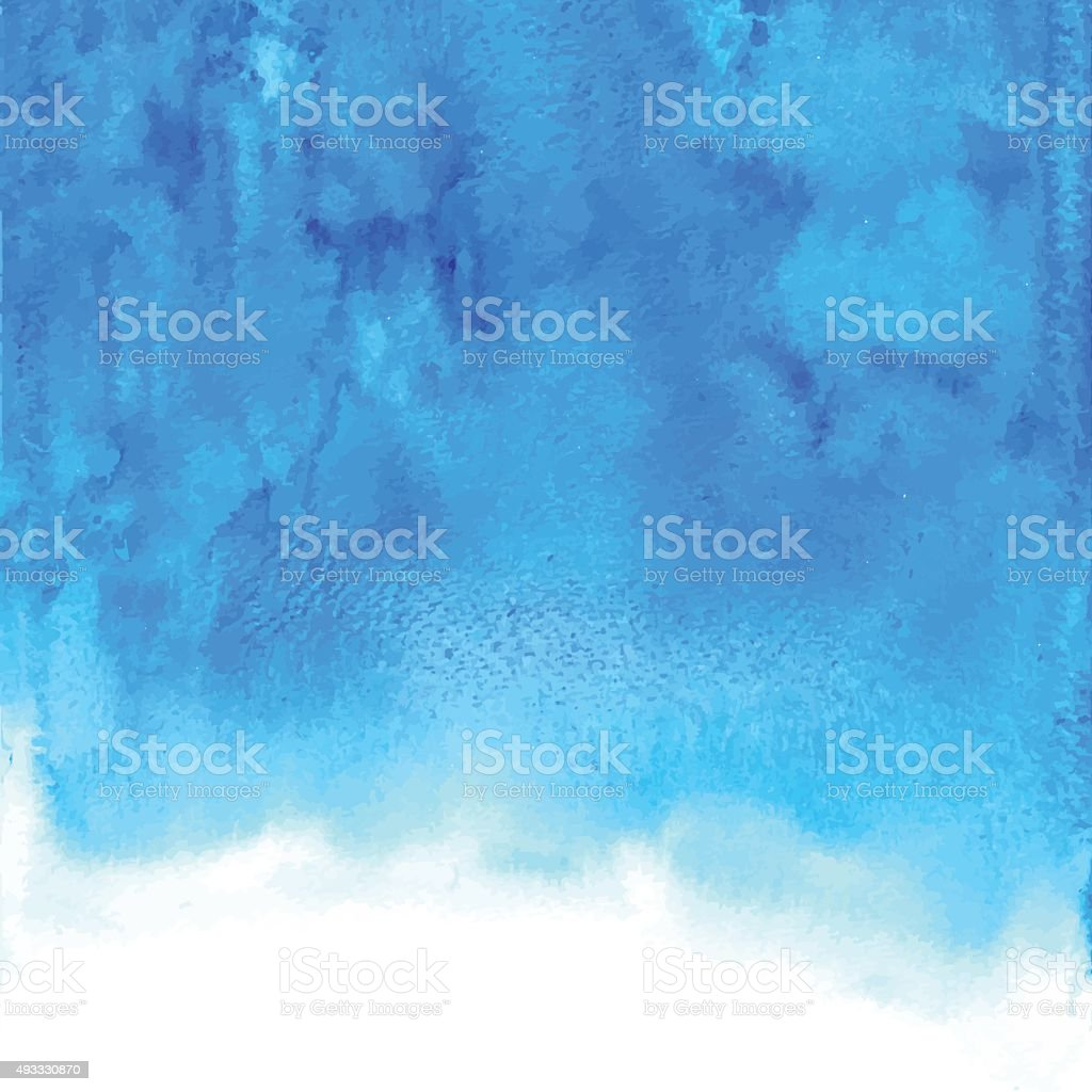 Abstract blue vector watercolor background for your design vector art illustration