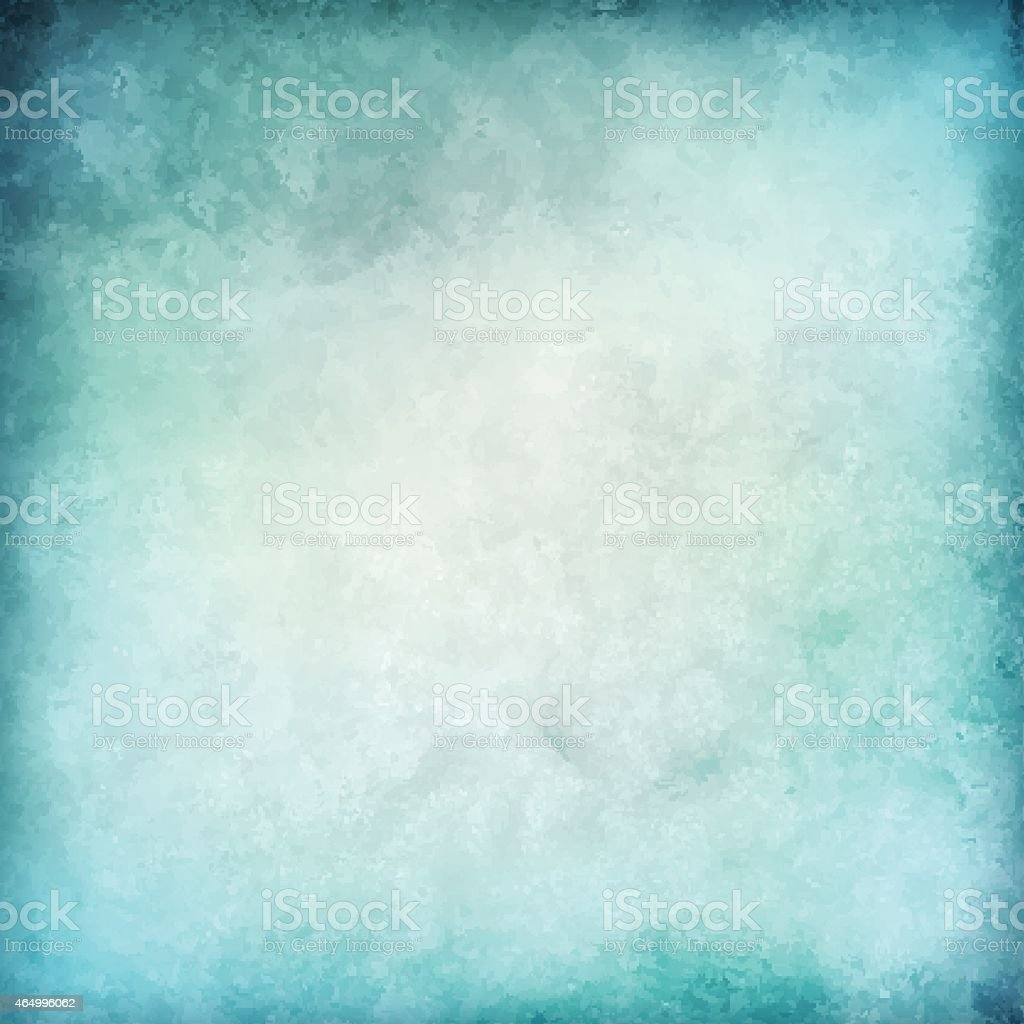Abstract blue vector watercolor background vector art illustration