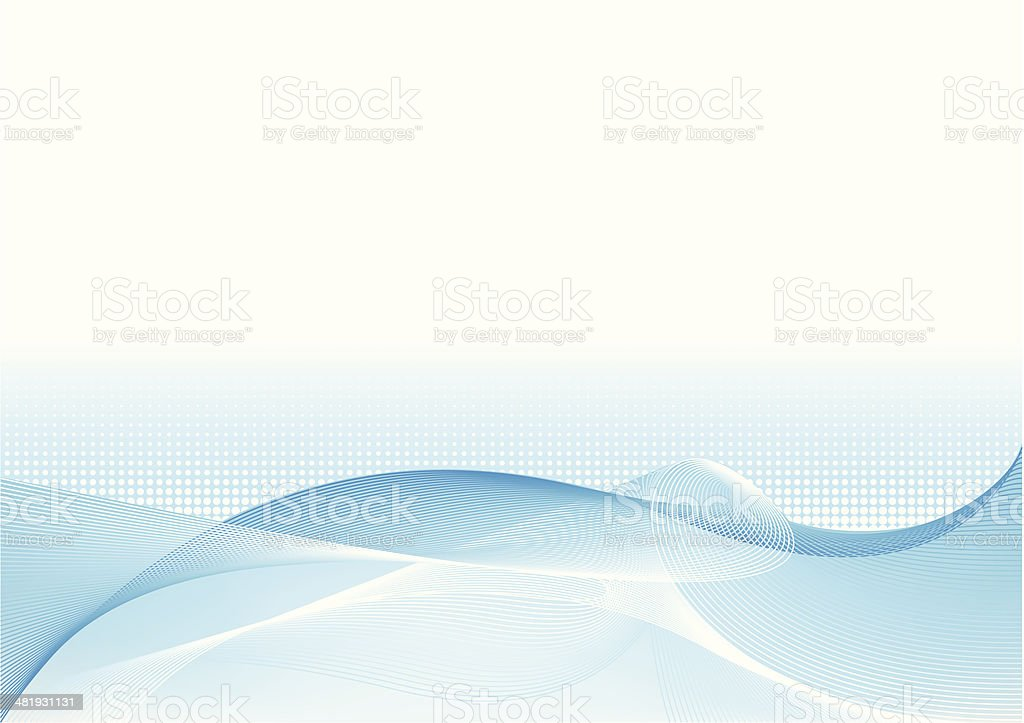 Abstract blue wave vector art illustration