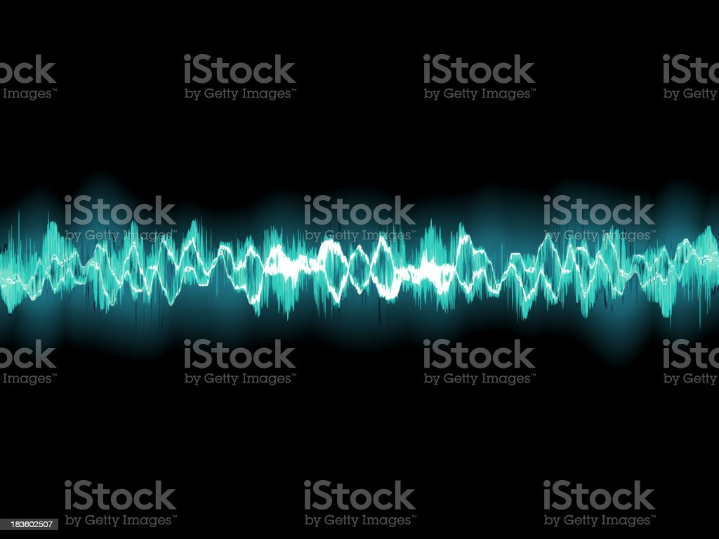 Abstract blue waveform. EPS 8 royalty-free stock vector art