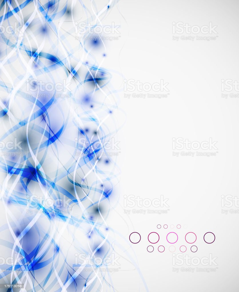 Abstract blue wavy background royalty-free stock vector art